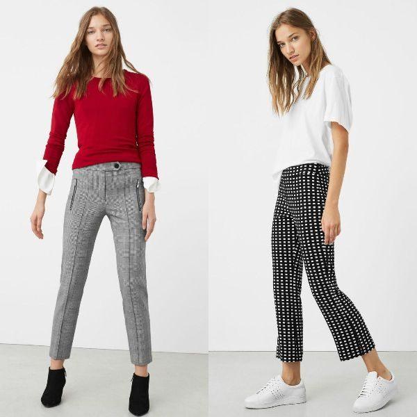 Pantaloni dama in carouri la moda in toamna iarna 2016-2107