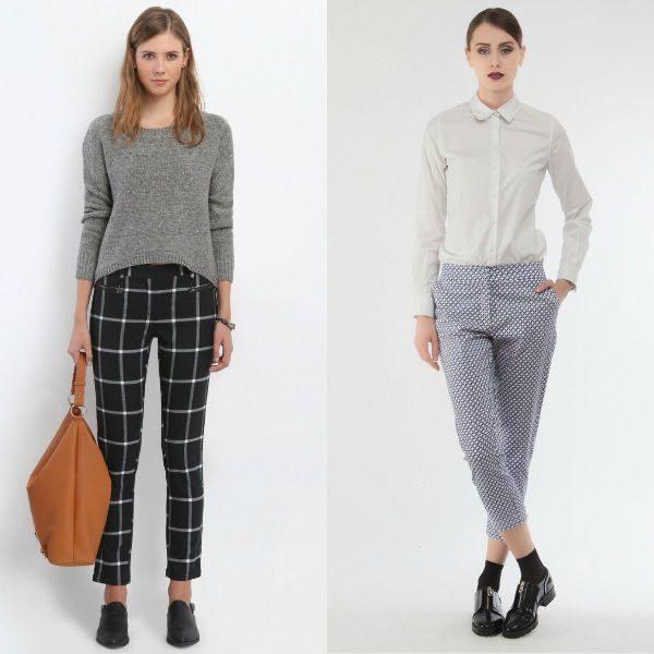 Pantaloni dama in carouri la moda toamna iarna 2016-2017
