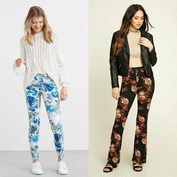 Pantaloni dama inflorati la moda in sezonul toamna iarna 2016-2017