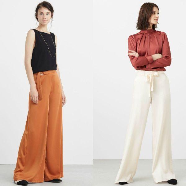 Pantaloni evazati dama la moda toamna iarna