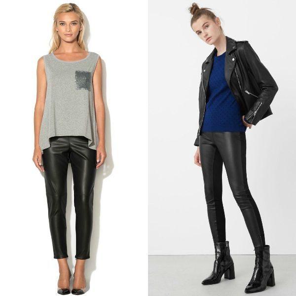 Pantaloni piele dama la moda toamna-iarna 2017-2018