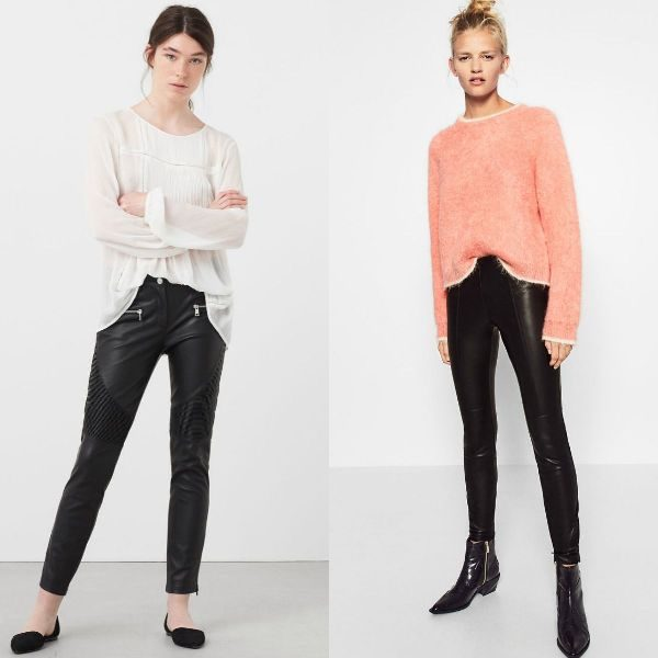 Pantaloni piele dama la moda in sezonul toamna iarna 2016-2017