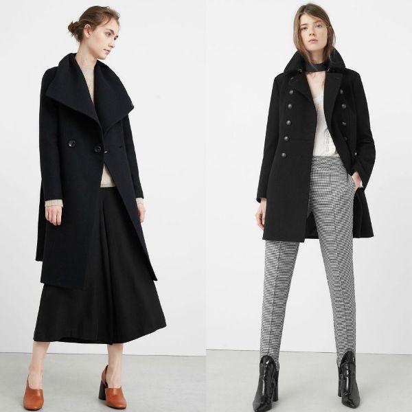Paltoane elegante negre