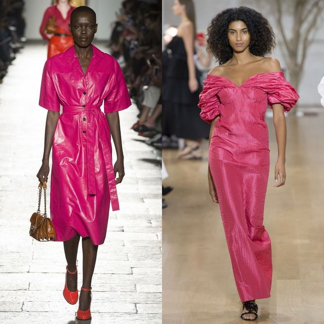 Moda rochii 2017 pentru rochii roz midi