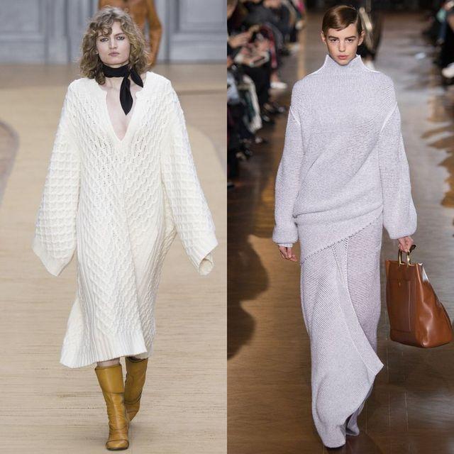 Rochii tricotate albe lungi