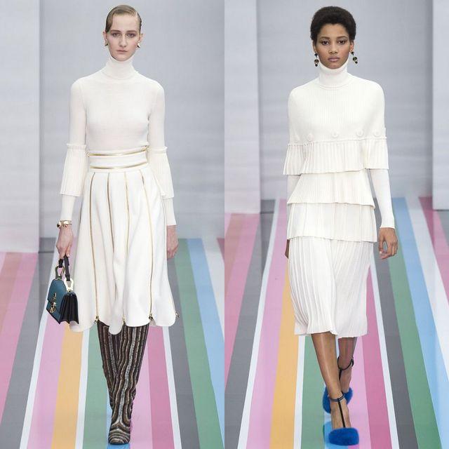 Rochii tricotate la moda 2017 elegante de culoare alba
