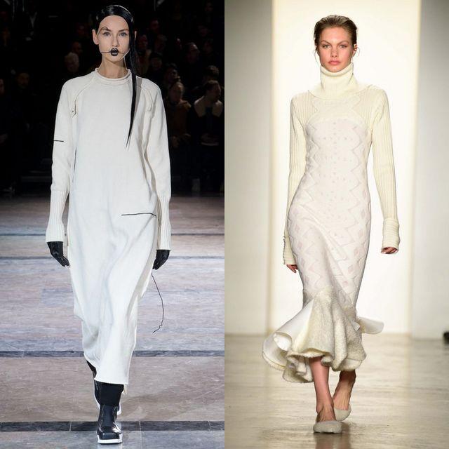 Rochii tricotate albe pentru femei