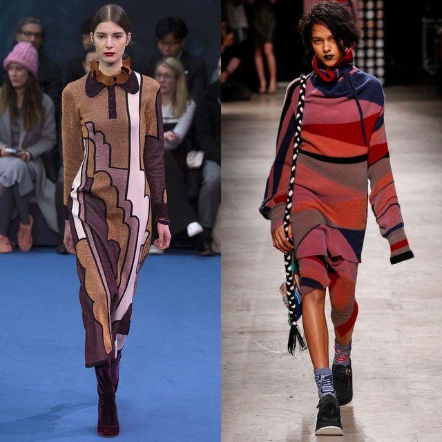 Rochii tricotate la moda 2017 | Rochii tricotate cu maneca lunga