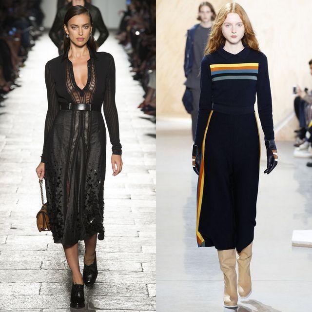Rochii tricotate la moda 2017 | Rochii tricotate negre lunga