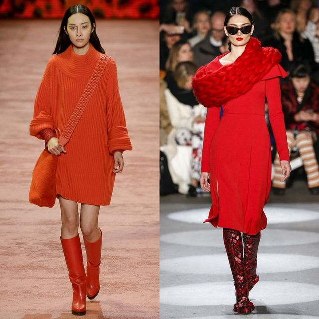 Rochii tricotate la moda 2017 | Rochii tricotate rosii