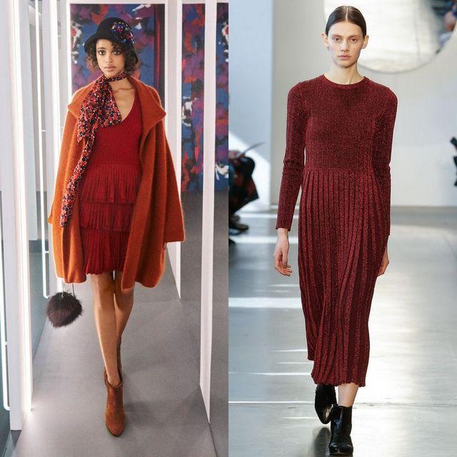 Rochii tricotate la moda 2017 | Rochie tricotata rosie