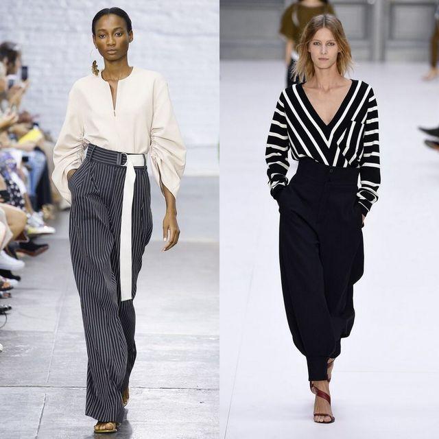 Tinutele cu dungi mari sunt printre principalele tendinte moda 2017