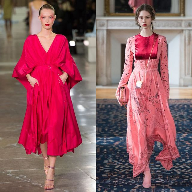 Tinute cu rochii roz lungi