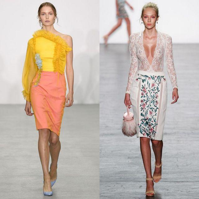 Fusta conica la moda primavara vara 2017