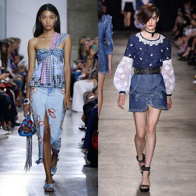 Fusta de blugi la moda