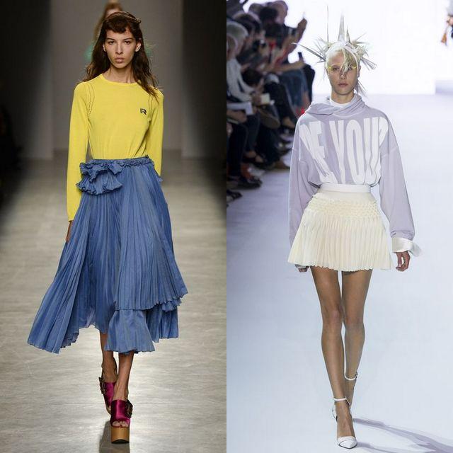 Fusta plisata la moda primavara vara 2017