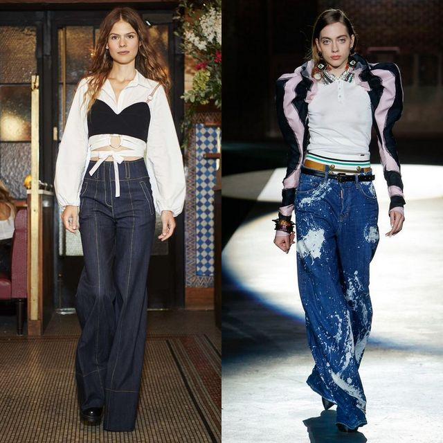 Blugi largi | Blugi la moda 2017