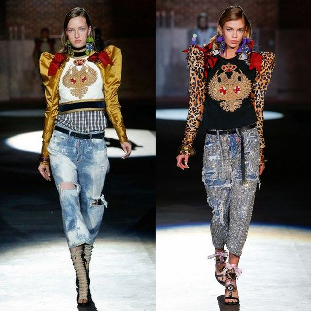 Blugi dama la moda 2017 | Tinute cu blugi rupti pentru femei
