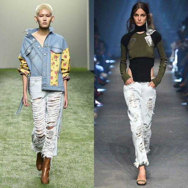 Blugi femei la moda 2017 | Moda blugi rupti pentru femei