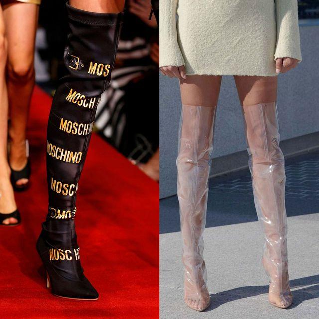 Moda cizme si botine primavara 2017 | Cizme peste genunchi