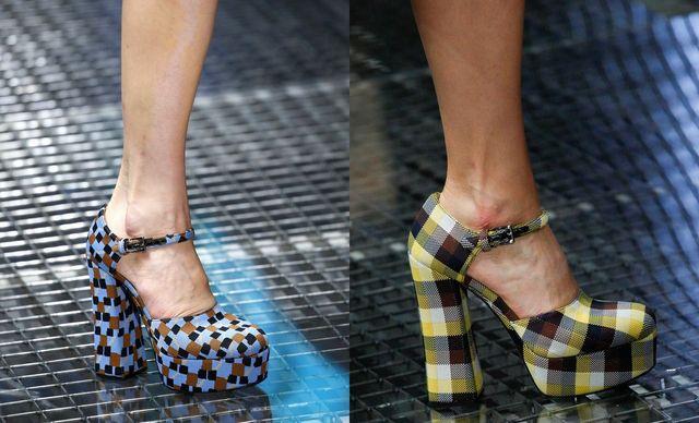 Pantofi dama cu platforma si toc gros