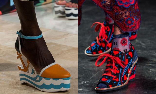 Pantofi cu platforma pentru dame