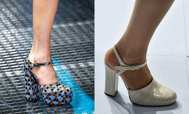 Pantofi dama cu toc gros si patrat