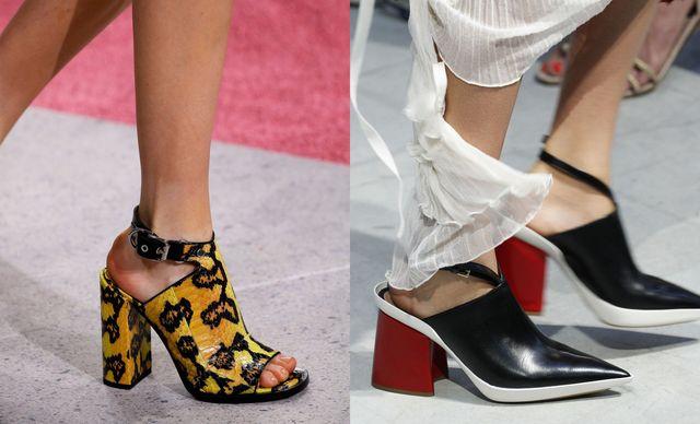 Pantofi cu toc gros pentru femei