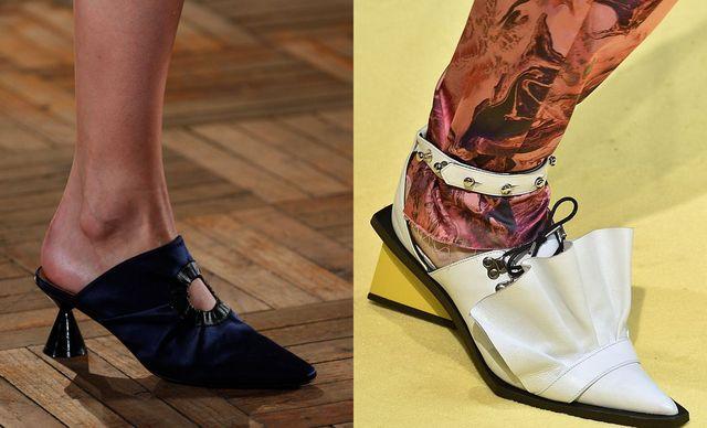 Pantofi cu toc mic pentru femei