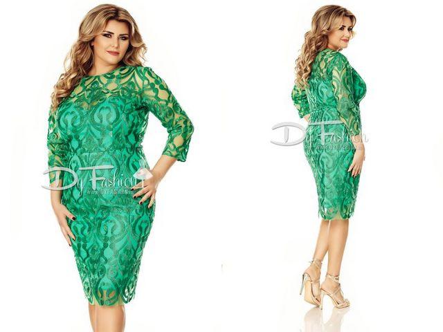 Tinute de seara pentru femei peste 40 de ani cu rochii din dantela verde