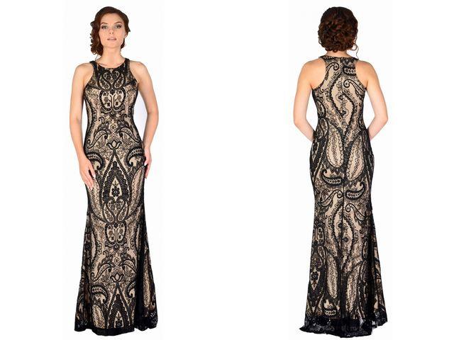 Rochie de ocazie lunga din dantela neagra