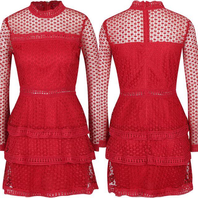Rochie rosie pentru domnisoare de onoare