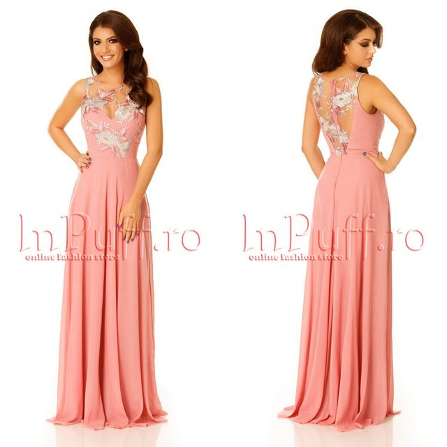 Rochii elegante de seara lungi roz