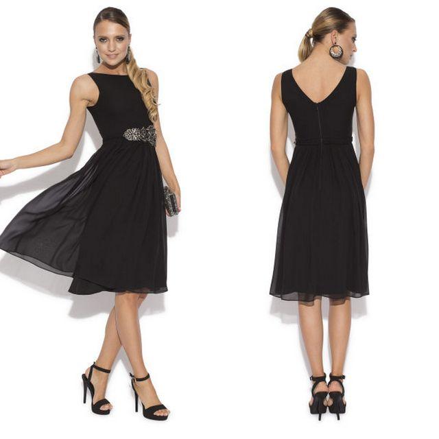 Modele negre de rochii elegante de seara
