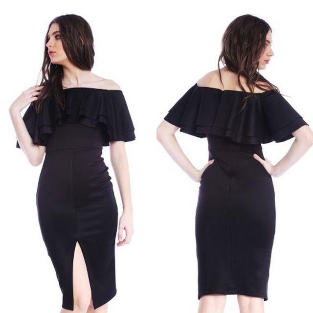 Modele rochii elegante ieftine de culoare neagra