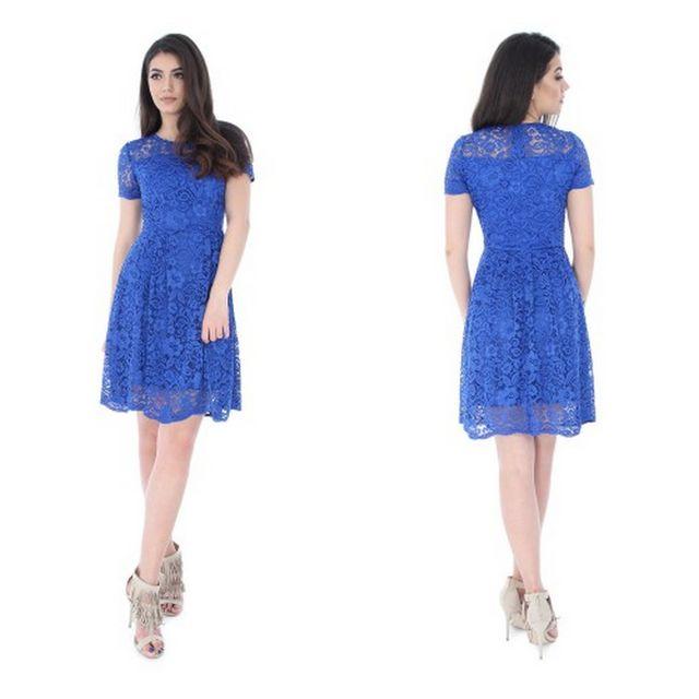 Rochii elegante ieftine din dantela albastra
