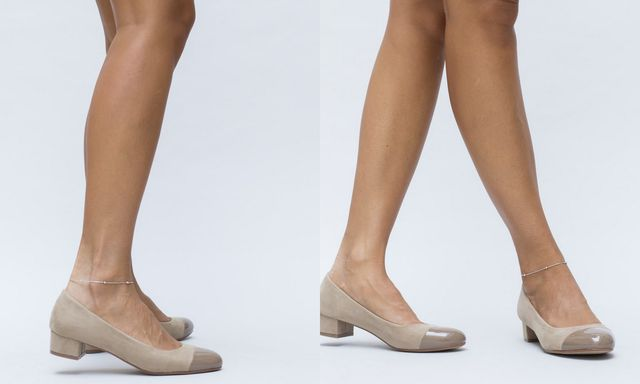 Pantofi pentru toamna de culoare crem