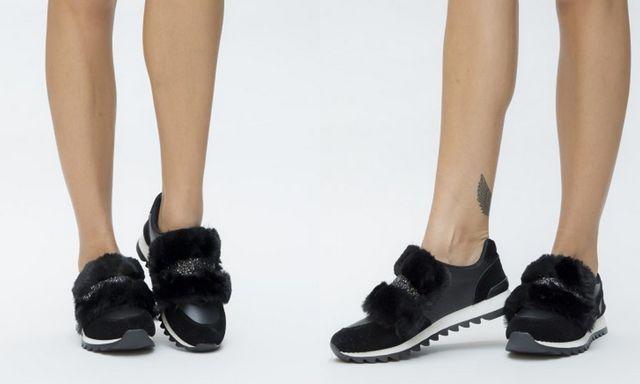 Pantofi sport de toamna cu arici si blanita