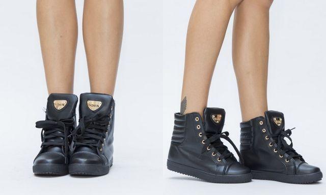 Pantofi sport negr de tip gehata