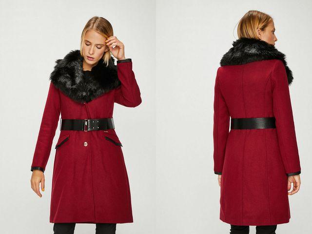 Paltoane dama cu blanita la moda iarna