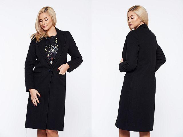 Paltoane negre pentru femei