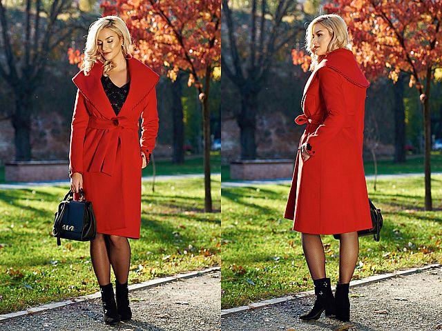 Paltoane dama rosii la moda toamna iarna 2017-2018