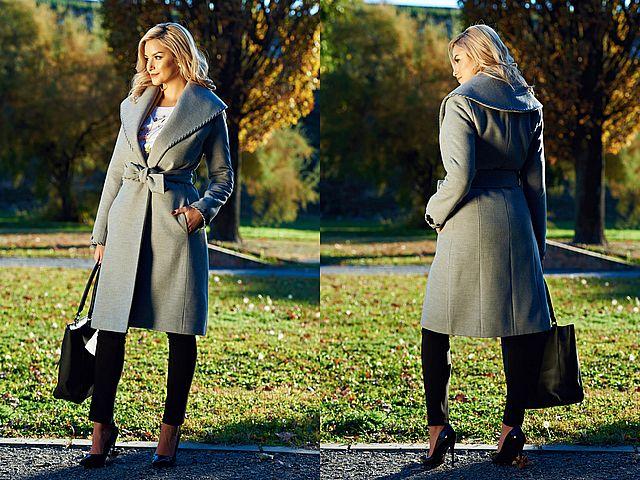 Palton dama cambrat la moda toamna iarna 2017/2018