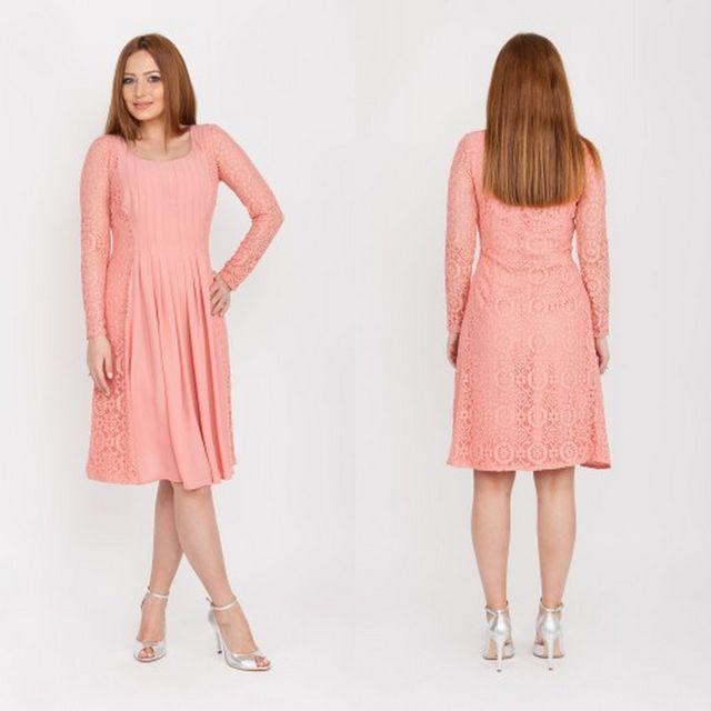 Rochie de seara roz prafuit