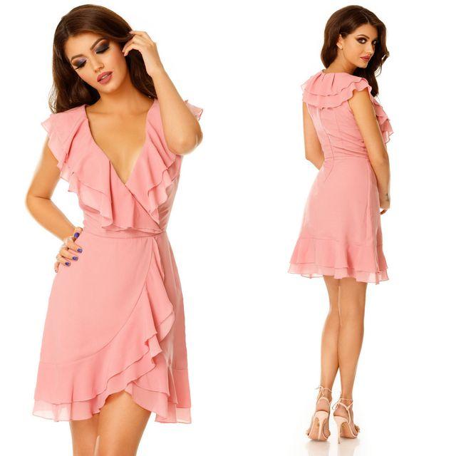 Rochie de seara scurta roz
