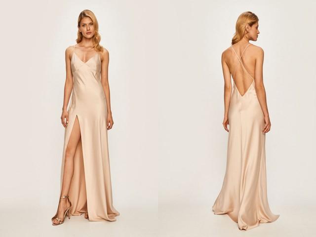 Idei tinute de nunta cu rochie lunga cu spatele gol